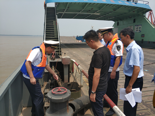 慈湖海事处加强汛期马和汽渡安全
